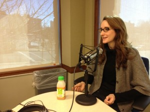 Maura Judkis joins the IAJ crew on Jan. 19, 2013. (Photo by Megan Cloherty)