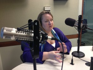 Tiffany Shackelford of the Association for Alternative Newsmedia talks about the positive things going on in the alternative press. (Photo by Megan Cloherty)