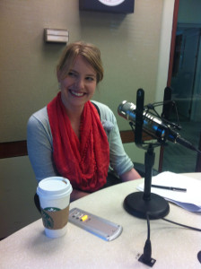 Post Graphics Director Kat Downs shares her insights with IAJ on Saturday, April 27, 2013. (Photo by Michael O'Connell)