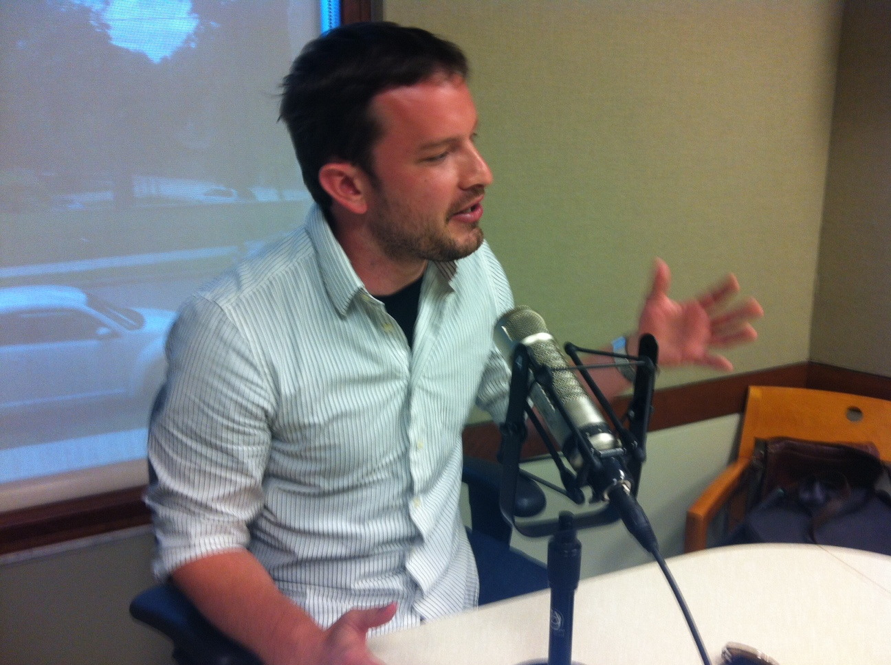 Jason Fraley is a movie critic for WTOP. (Photo by Michael O'Connell)