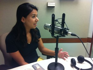 Aisha Chowdhry started her journalism career by filming a documentary in Pakistan. (Photo by Michael O'Connell)