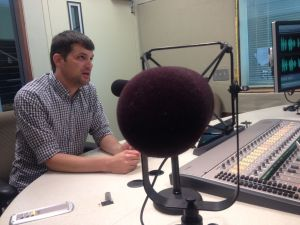 Trevor Knoblich is the digital director of the Online News Association. (Photo by Megan Cloherty)