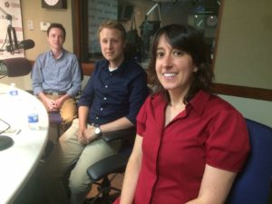 From left, Ben Myers, Jon Davenport and Sara Lipka of the Chronicle for Higher Learning.