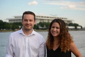 Jason Fraley and Rachel Nania of the Capital Culture podcast.