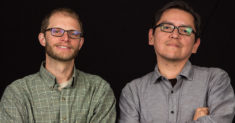 Associate Professor Jeremy Lurgio and Assistant Professor Jason Begay of the University of Montana School of Journalism.